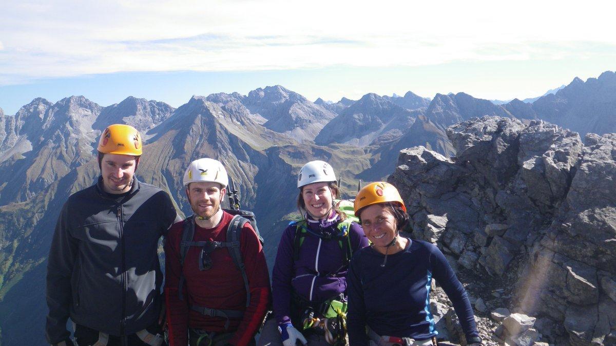 Klettersteig Mindelheimer : Von der fiderepasshütte über den mindelheimer klettersteig