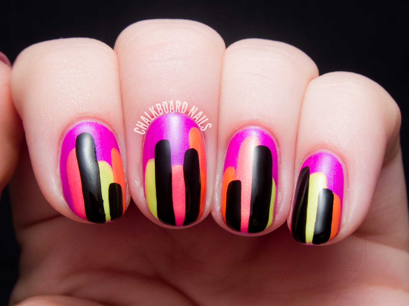 Nail art color violet - I Quite Like The Way They Came Out And Would Definitely Try This Nail Art Again Read On For Details