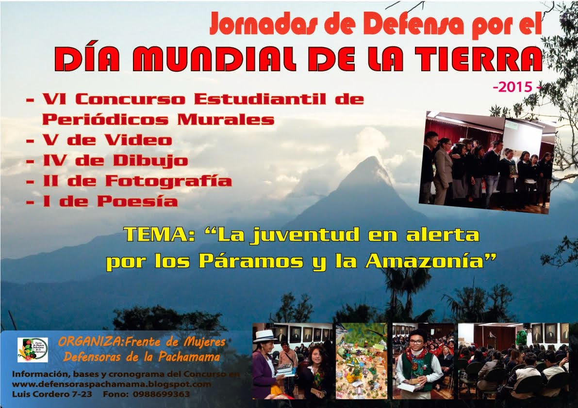 """""""Jornadas de Defensa por el Día Internacional de la Madre Tierra"""""""