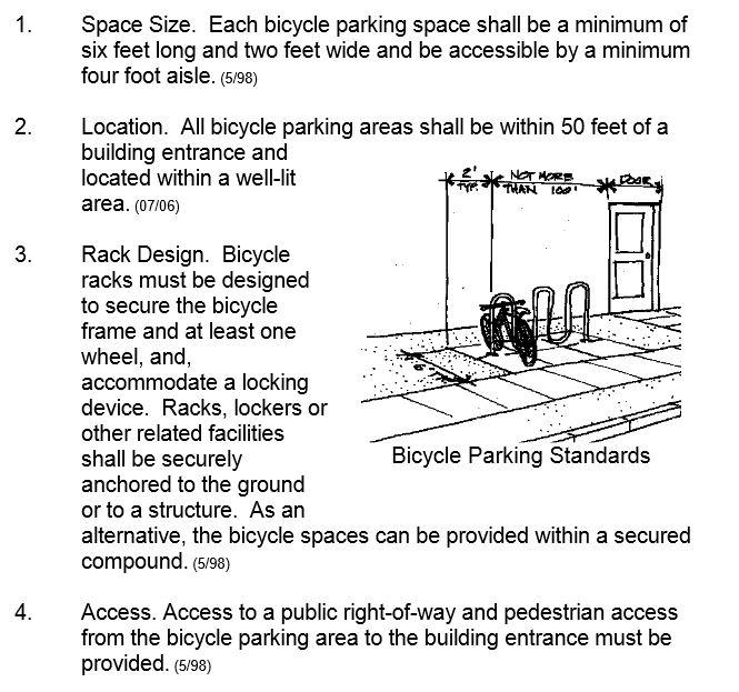 Keizer standards   with wave rack. Salem Breakfast on Bikes  Keizer Planning Commission to talk Bike