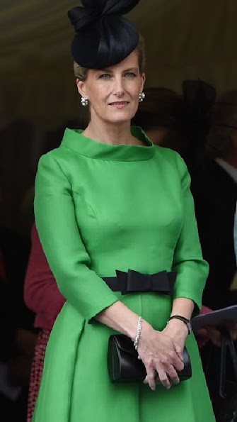 Sophie, Countess of Wessex attends the Order of the Garter Service at St George's Chapel in Windsor Castle