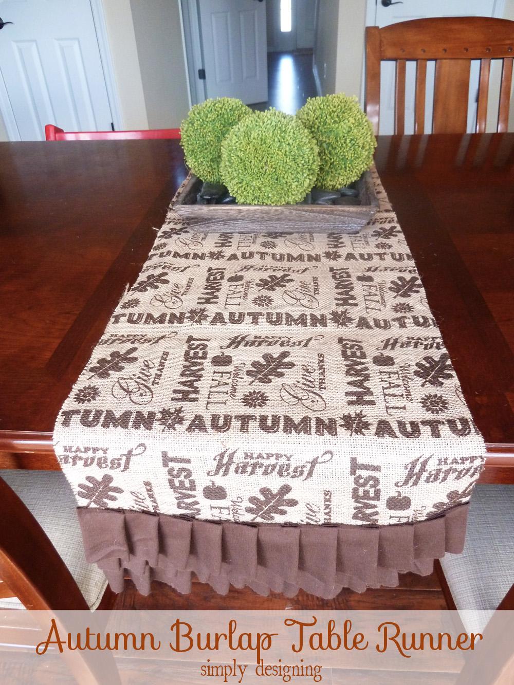 Burlap Table Runner | Perfect Fall Or Thanksgiving Table Decor For A  Tablescape | #falldecor