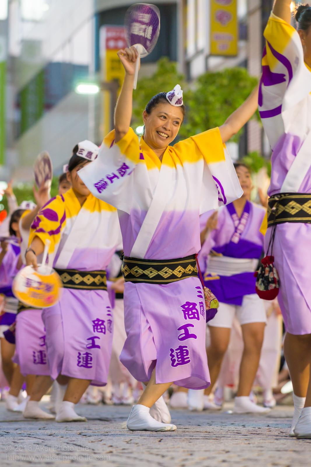 三鷹阿波踊り、三鷹商工連の女性の男踊り