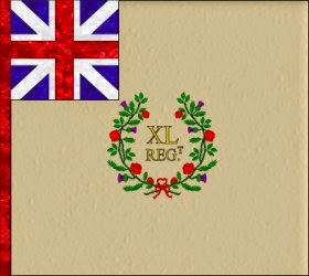 40th Regiment of Foot (Peregrine Hopson) Regimental Colour