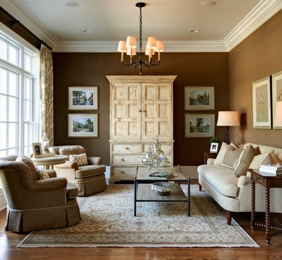 Modern Living Room Color Schemes Decorated In Neutral Shades