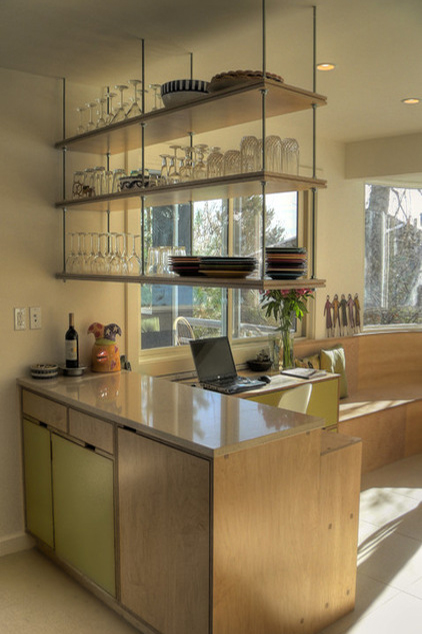 Open Kitchen Wall Shelves
