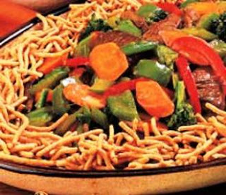 Picture of Chow Mein South Beach on white plate.