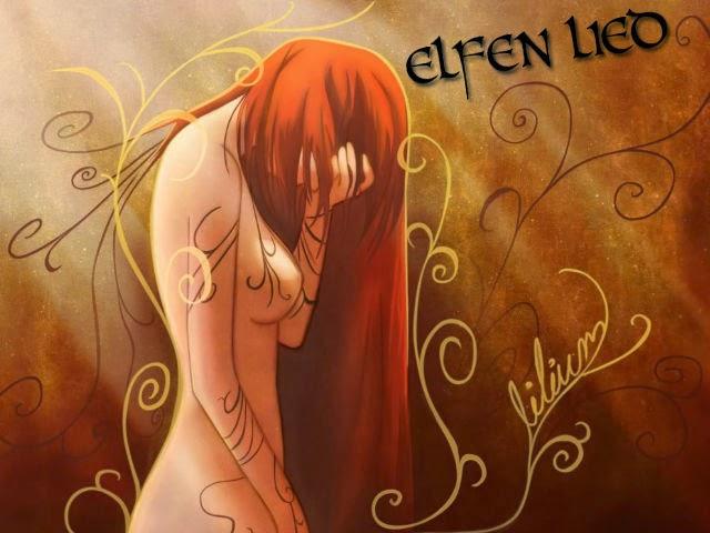 Lucy, del anime Elfen Lied, en una imagen del intro de la serie, en actitud desconsolada