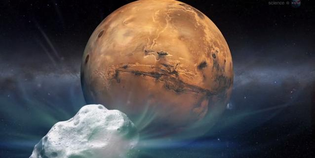 Comet Heads for Mars. Credit: NASA