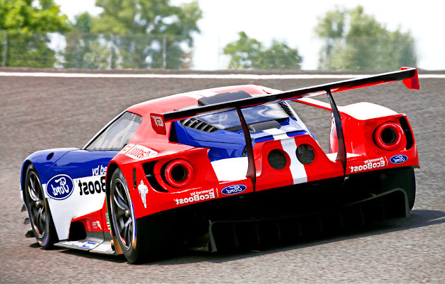 2016 Ford GT Le Mans Race Car Spoiler Wallpaper
