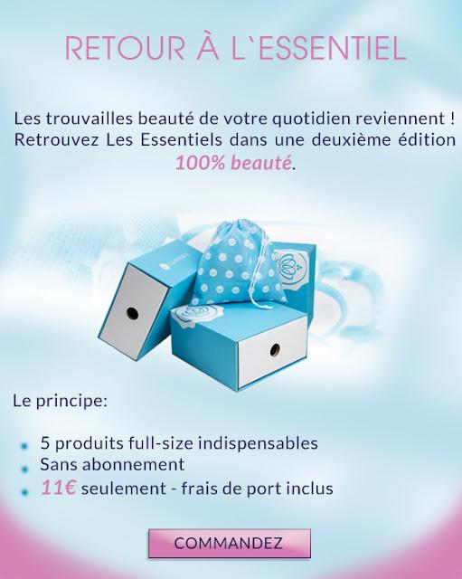 La Glossybox les Essentiels 2ème édition à 11€