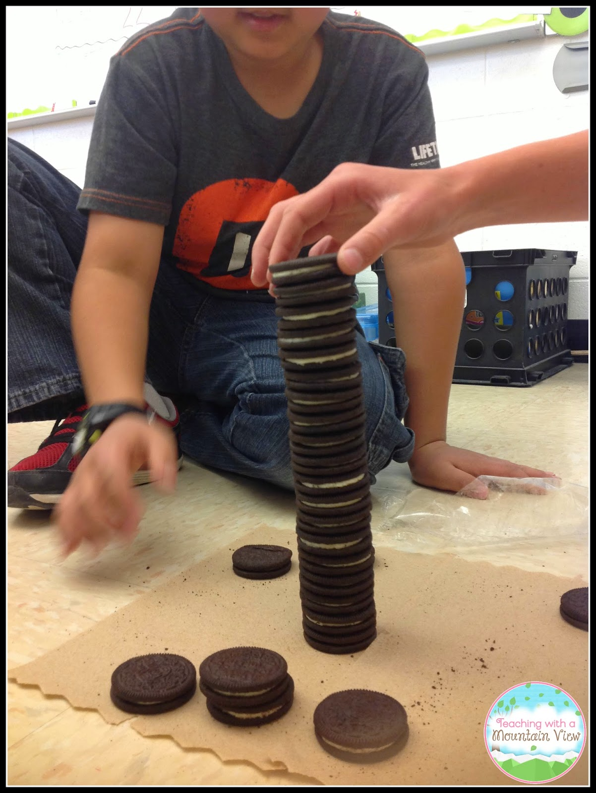 Teaching with a mountain view oreo stacking contest for mean an action shot of the oreo tower crashing and one student trying to save it not allowed freerunsca Image collections