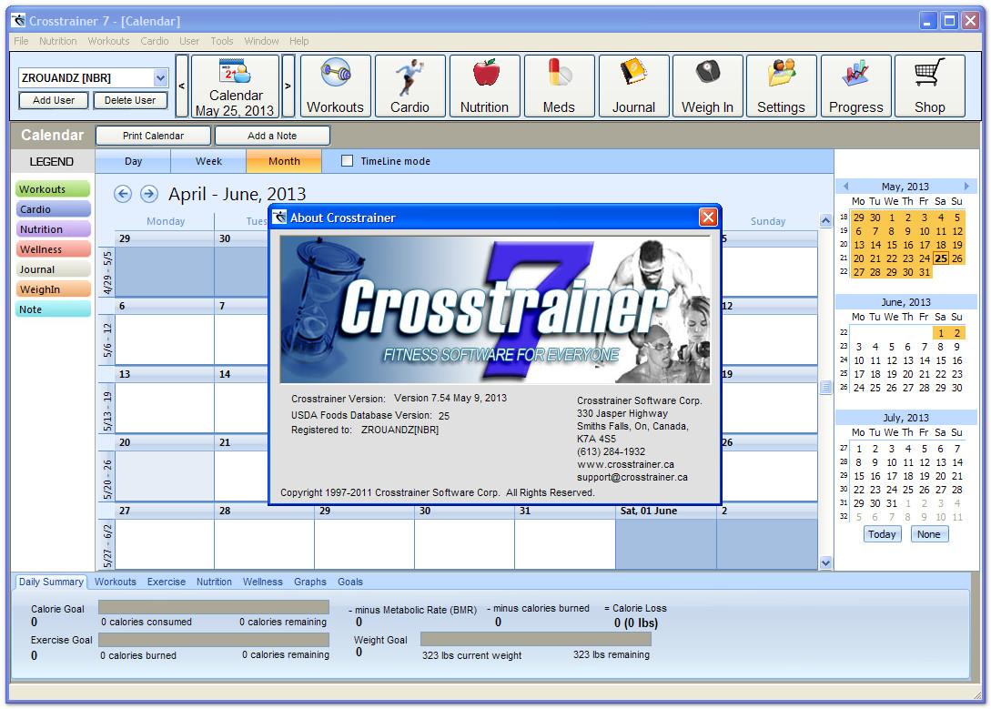 crosstrainer programma