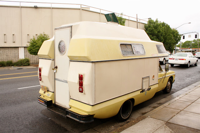 1972 Ford Courier Roll-A-Long RV.