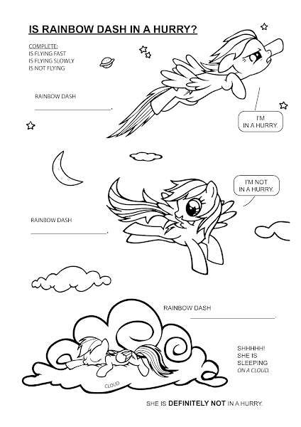 Rainbow Dash Flying Fast Coloring Pages