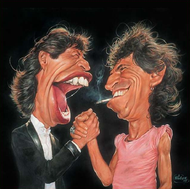 Mick Jagger & Keith Richards - New Pop Realism - Sebastian Krüger 1963