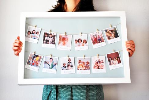 Inventa crea cuadro de fotos - Como hacer un marco de fotos original ...