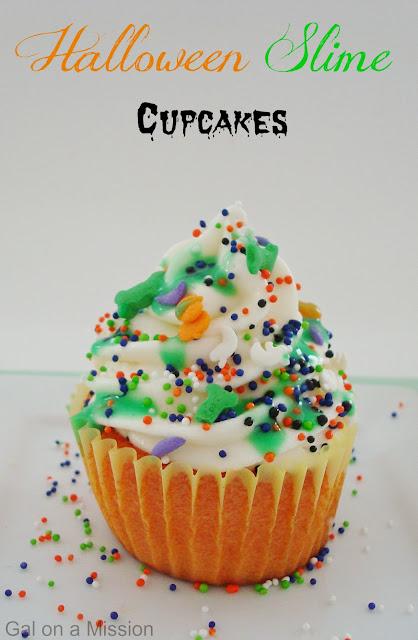 Halloween slime cupcakes