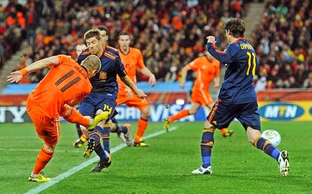 Belanda Bantai Spanyol 5-1