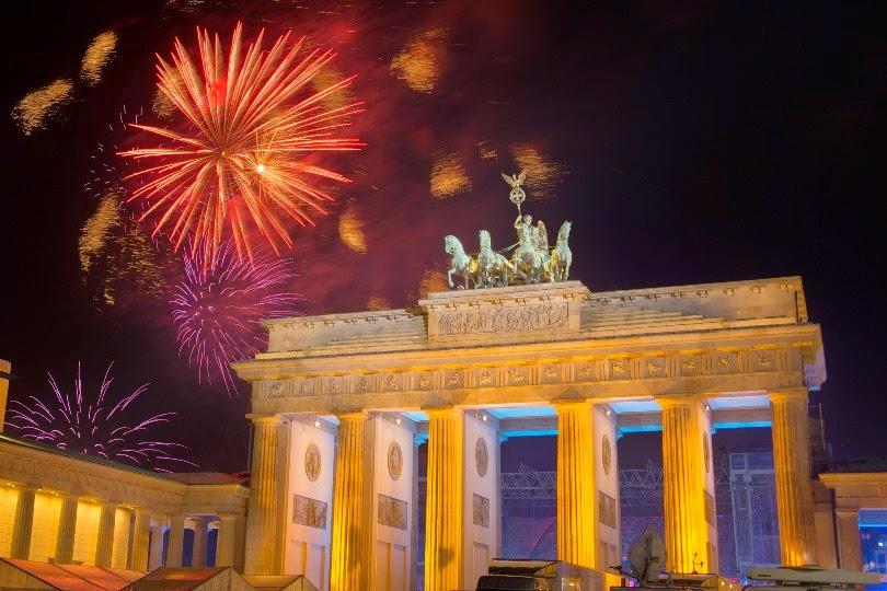 """Foto dari bagian """"muka kuda"""" Brandenburg Tor, Berlin"""