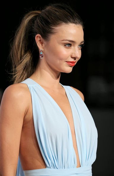 Miranda Kerr in a floaty pale-blue gown from Australian designer Carla Zampatti at the 2012 Women Of Style Awards held at the Carriage Works on May 15, 2012 in Sydney, Australia.