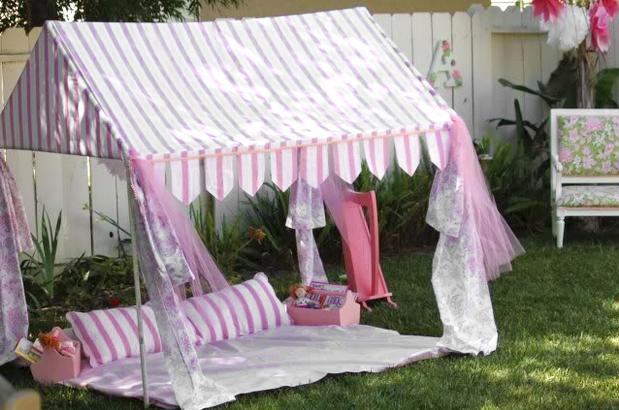 Grosgrain pvc party tent
