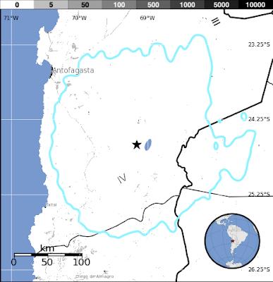 Epicentro sismo 5,5 grados Norte de Chile, 04 de Diciembre 2013