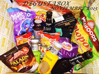 Caja sorpresa Degustabox Noviembre 2015