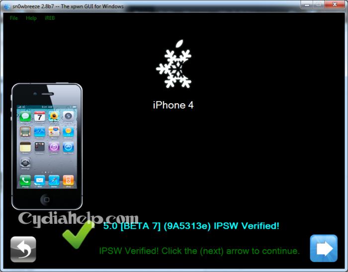 sn0wbreeze v2.8b7 For iOS 5 beta 7