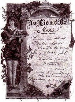 MENU DE 1901
