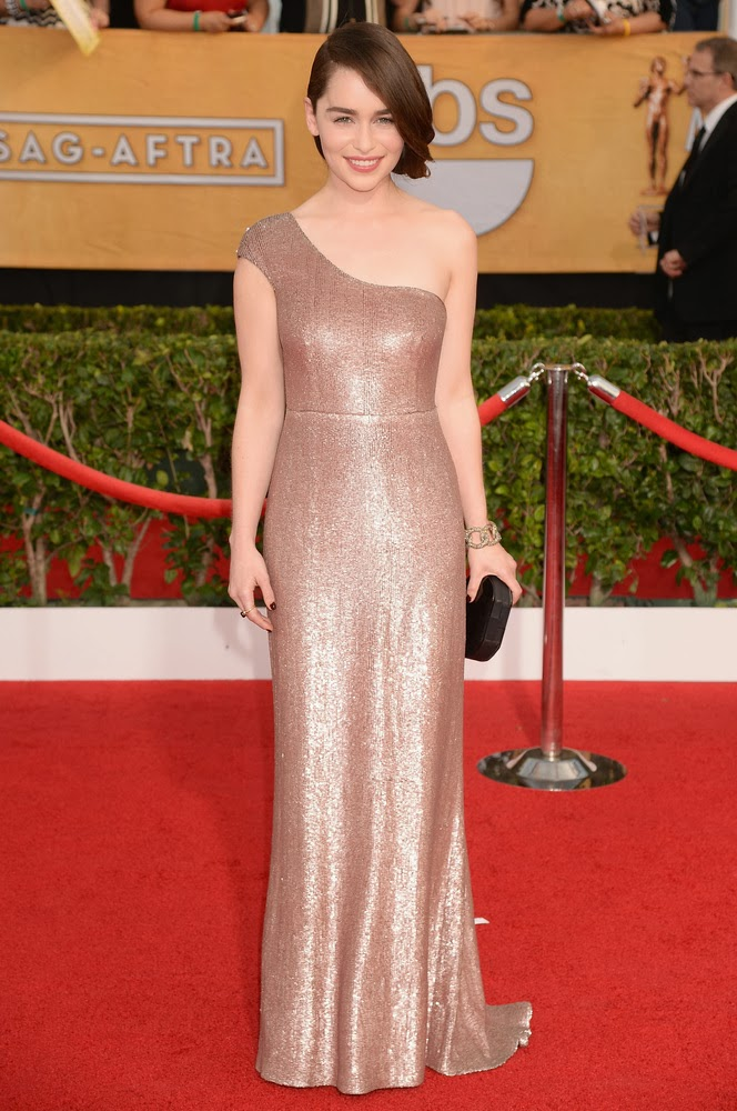 Emilia Clarke in Calvin Klein at the SAG awards