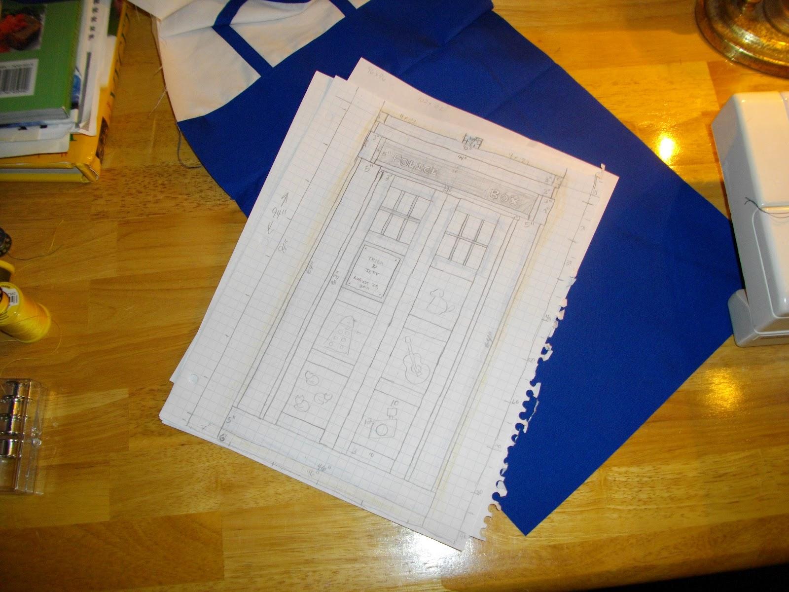 Paigeedd!: TARDIS Wedding Quilt