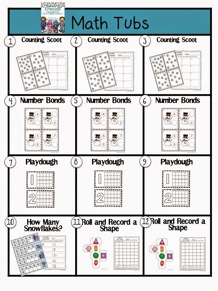 http://www.teacherspayteachers.com/Product/Freezing-Friends-ELA-and-Math-Centers-for-KINDERGARTEN-1654754
