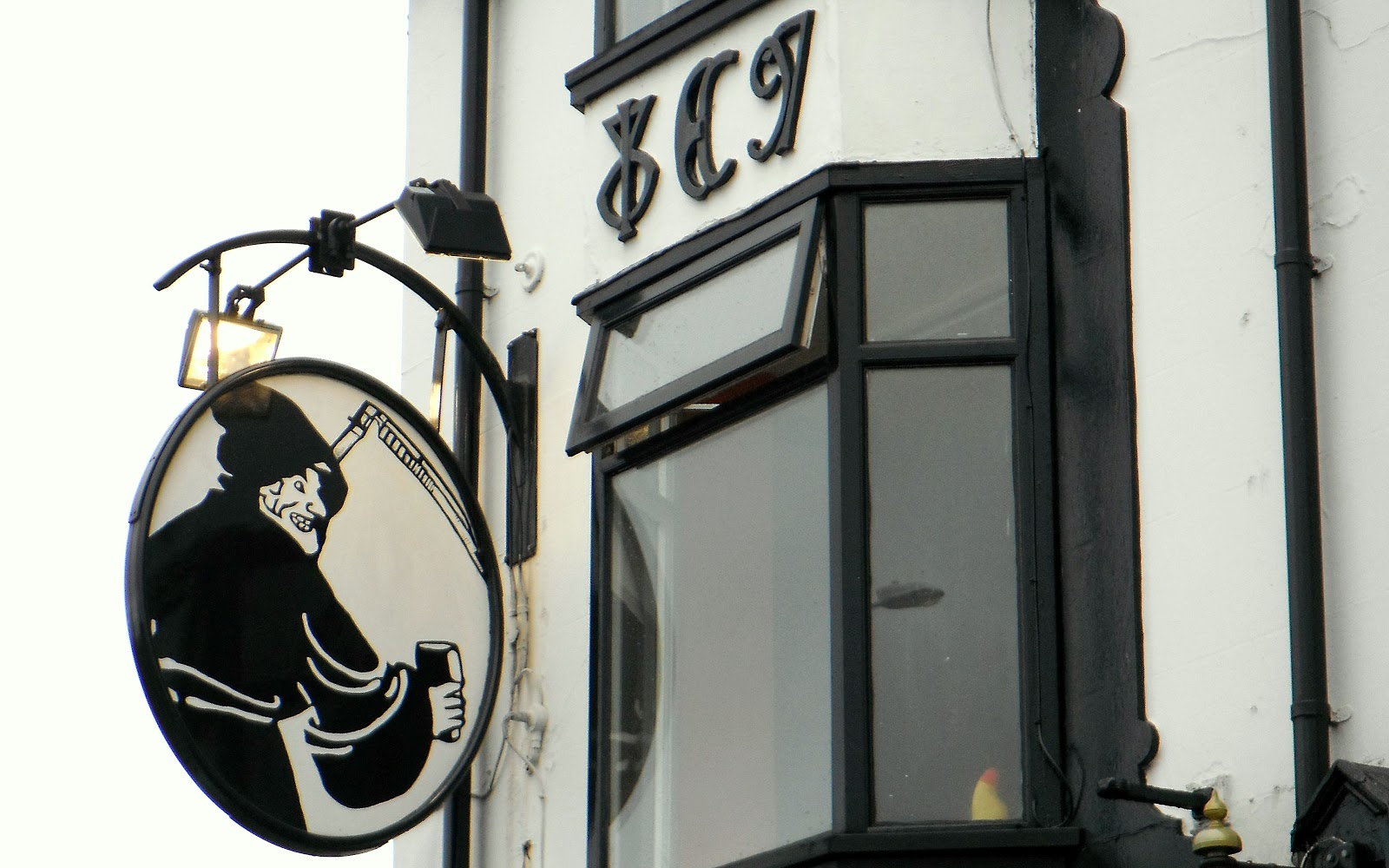 Black Friar Pub's pub sign
