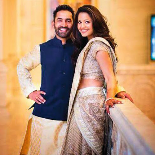 Dinesh Karthik and Dipika Pallikal together soon after their engagement