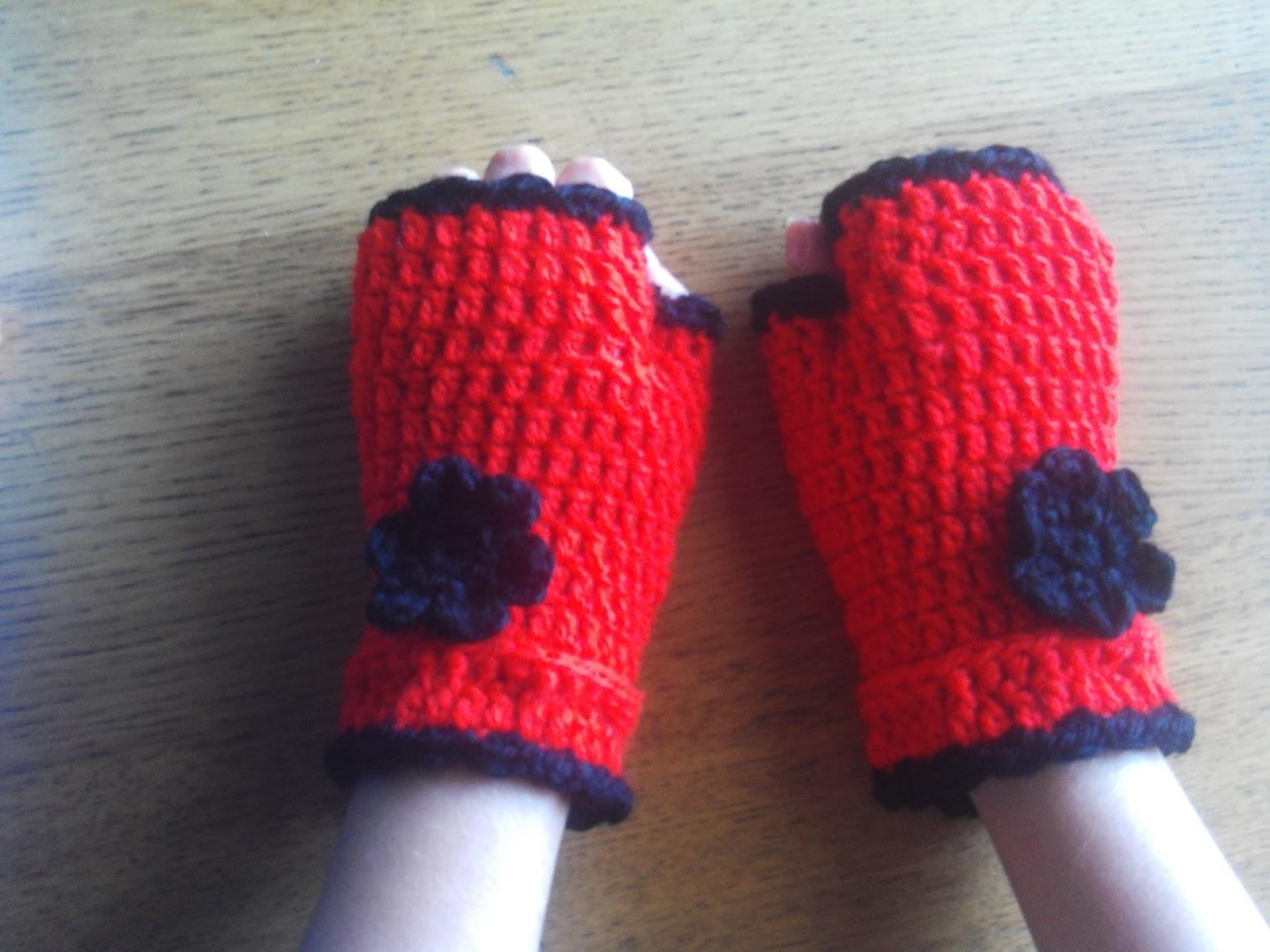 Pandiña Crochet: Guantes sin dedos (mitones)