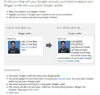 switch to profile google plus +