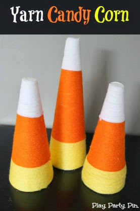 Yarn Candy Corn Tips