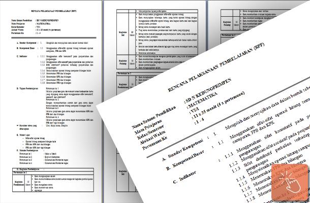 Contoh RPP Matematika Kelas VI (6) Semester 1