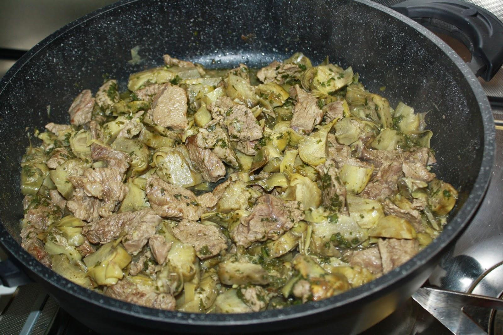 carne con carciofi ricetta