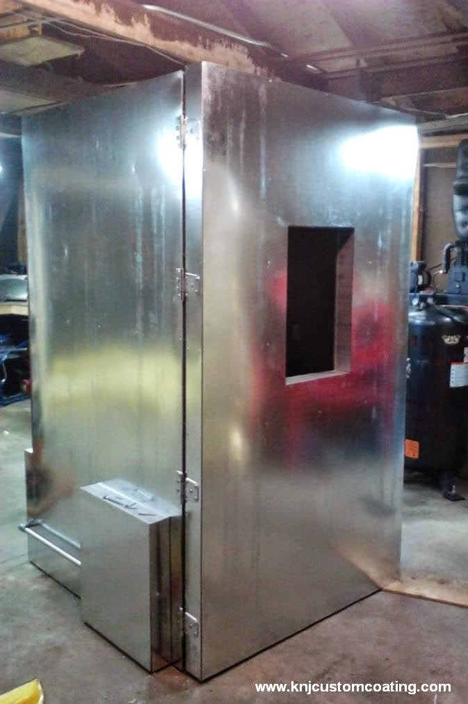 hanger type paint booth