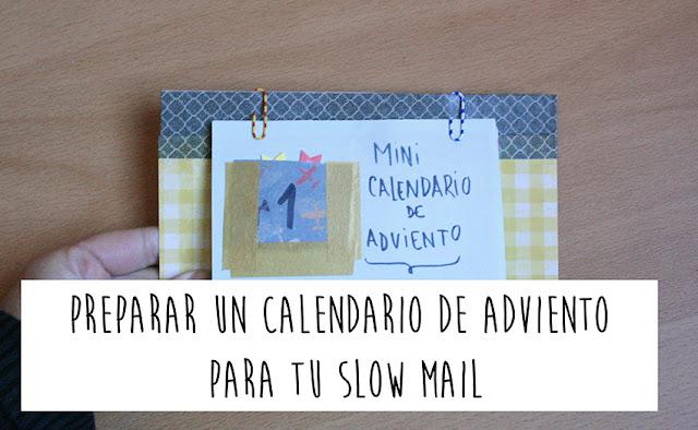 Preparar un calendario de adviento sencillo y rápido para mandar por carta