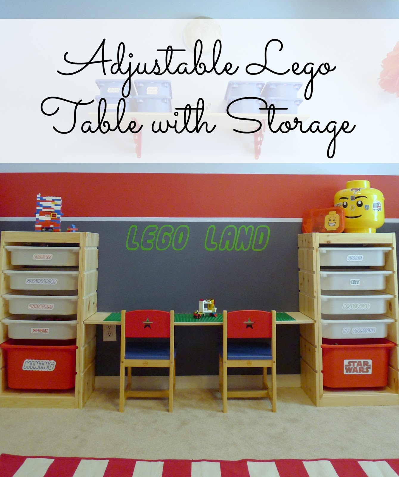 & That Mommy Blog: Lego Storage and Play Table: An Easy IKEA Hack!