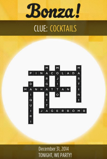 Bonza Daily Word Puzzle Answers December 31, 2014