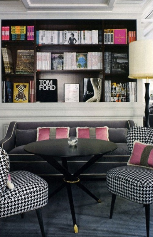 Houndstooth chairs and perhaps in the fabric you use at your windows