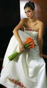 Vestidos de Novia con Flores de Colores, parte 1
