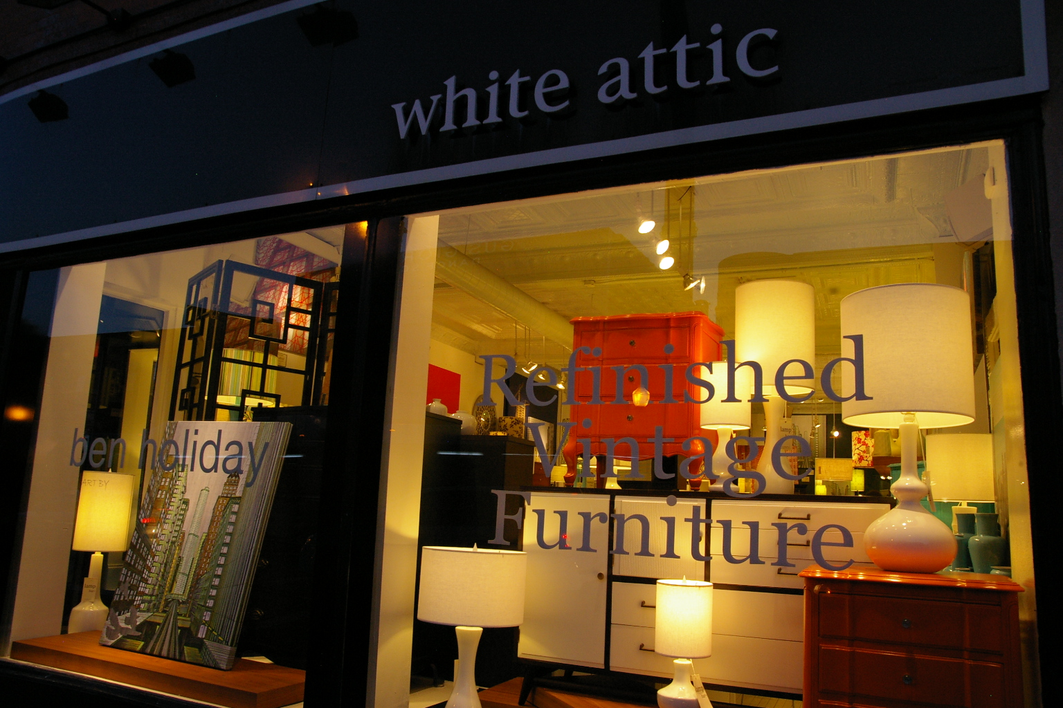 The Inside Scoop Furniture Store The White Attic In Chicago Illinois Modern Diy Art Designs
