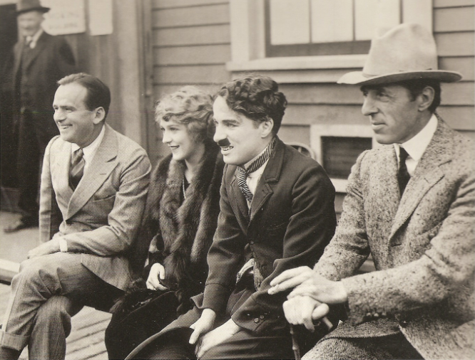 Los 4 fundadores de United Artists en 1919