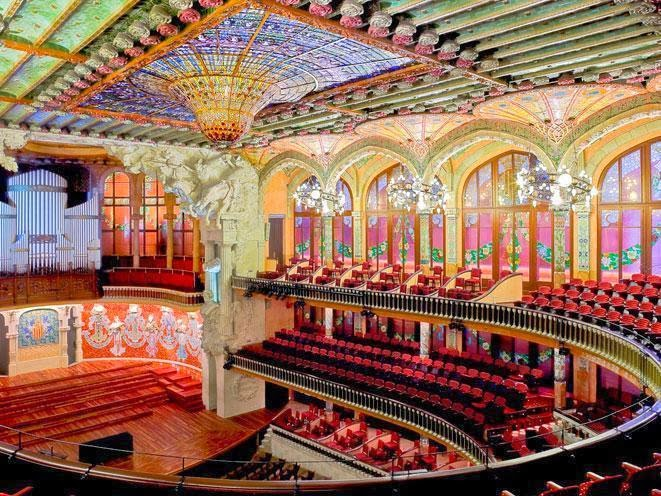 Viajar a barcelona visitar el palacio de la m sica de for Busco hotel barato en barcelona