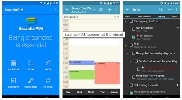 برنامج مجاني لإدارة المعلومات الشخصية والمهام لويندوز وأندرويد وEssentialPIM 6.55 APK-iOS